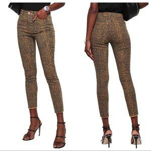 CURRENT/ELLIOTT Leopard animal print skinny jeans